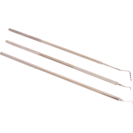 Set of 3 small dental picks
